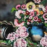 Flowers And Vase Poster