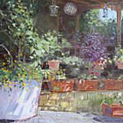 Flowers At Lida's Veranda Poster