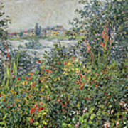 Flowers At Vetheuil Poster