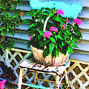 Flowers In A Basket Poster