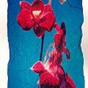 Flowers On Watercolor Paper Poster