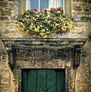 Flowers Over Doorway Poster