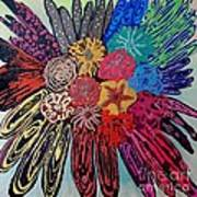Flowers Burst By Jasna Gopic Poster