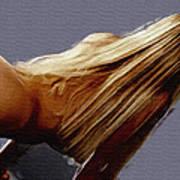 Flowing Blonde Poster by Wayne Bonney