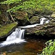 Flowing Falls Poster by Frozen in Time Fine Art Photography