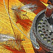 Fly Fisherman's Table Digital Art Poster