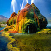 Fly Geyser Travertine Poster by Inge Johnsson