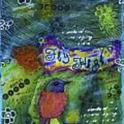 Fly High Little Bird Poster