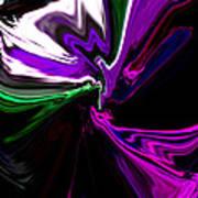 Purple Rain Homage To Prince Original Abstract Art Painting Poster