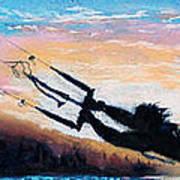 Flyin' Kiteboarder Poster