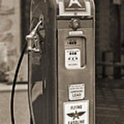 Flying A Gasoline - National Gas Pump 2 Poster by Mike McGlothlen