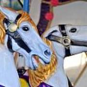 Flying Horses On The Carousel Poster