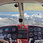 Flying Over North Cascades Poster