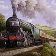 Flying Scotsman On Broadsands Viaduct. Poster
