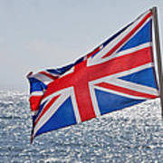Flying The British Flag Poster