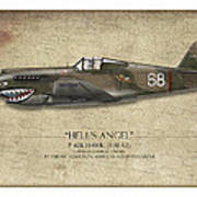 Flying Tiger P-40 Warhawk - Map Background Poster