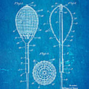 Flynn Merion Golf Club Wicker Baskets Patent Art 1916 Blueprint Poster
