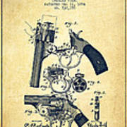 Foehl Revolver Patent Drawing From 1894 - Vintage Poster