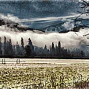 Fog Beyond The Tilled Field  Poster