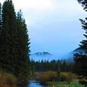 Fog Mountain Poster