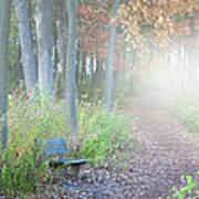 Foggy Autumn Morning Poster