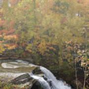Foggy Brandywine Falls Poster