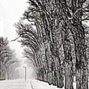 Foggy Morning Landscape - Fractalius 7 Poster by Steve Ohlsen