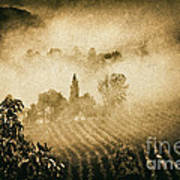 Foggy Tuscany Poster