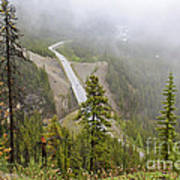 Foggy View From Icefields Parkway Poster