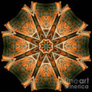 Folded 8-pointed Kaleidoscope Image Poster