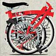 Folded Brompton Bike Poster
