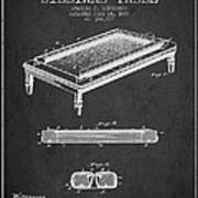 Folding Billiard Table Patent From 1887 - Charcoal Poster