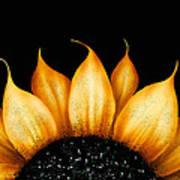 Folk Art Sunflower Poster