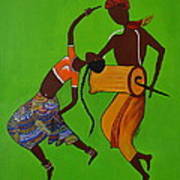 Folk Dance Poster by Shruti Prasad