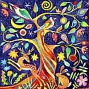 Folk Tree Poster