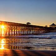 Folly Beach Pier At Sunrise Poster