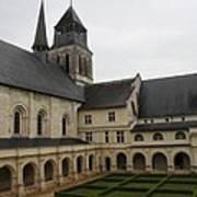Fontevraud Abbey Courtyard -  France Poster