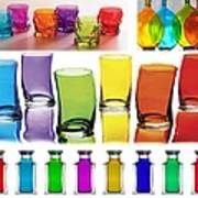 Food Coloring Ensemble Wide-rainbow Theme Poster