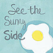 Food- Kitchen Art- Eggs- Sunny Side Up Poster
