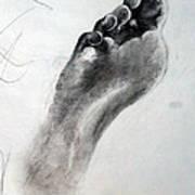 Foot Study Poster by Corina Bishop