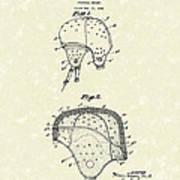 Football Helmet 1924 Patent Art Poster