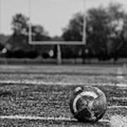 Football In Black And White Poster