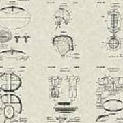Football Patent Collection Poster