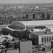 Ford Field Bw Poster