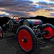 Ford Model T Racer Beat The Storm Home Poster