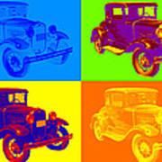 Ford Model A Roadster Pop Art Poster
