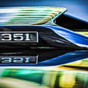 Ford Mustang 351 Engine Emblem -1011c Poster
