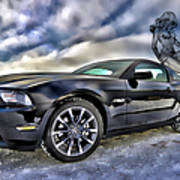 Ford Mustang - Featured In Vehicle Eenthusiast Group Poster