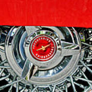 Ford Thunderbird Wheel Emblem Poster