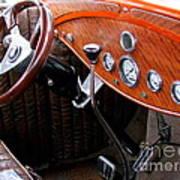 Ford V8 Dashboard Poster